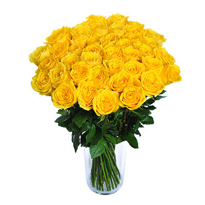 Yellow roses - design bunch of flowers