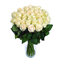 White roses - design bunch of flowers