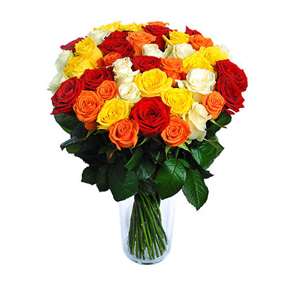 Розы разного цвета - создать букет
